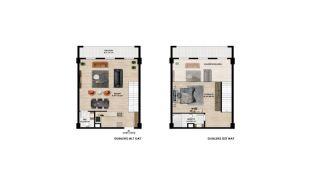 Centrale Appartementen met Ruime Woonruimtes in Bursa, Vloer Plannen-2