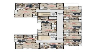 Möblerade fastigheter på ett utmärkt läge i Bursa Nilufer, Planritningar-1