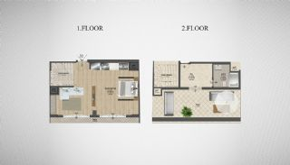 Special Architecture Apartments in Luxury Project of Yalova, Property Plans-1