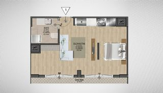 Special Architecture Apartments in Luxury Project of Yalova, Property Plans-3