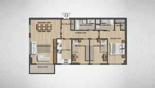 Special Architecture Apartments in Luxury Project of Yalova, Property Plans-8
