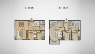 Special Architecture Apartments in Luxury Project of Yalova, Property Plans-9