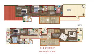 New Built Flats in Yalova Ciftlikkoy by the Seaside, Property Plans-5
