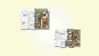 Lyxiga lägenheter med havsutsikt i centrum av Yalova, Planritningar-1