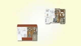 Lyxiga lägenheter med havsutsikt i centrum av Yalova, Planritningar-2