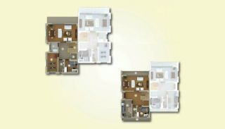 Lyxiga lägenheter med havsutsikt i centrum av Yalova, Planritningar-3