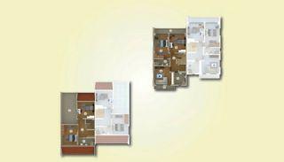 Lyxiga lägenheter med havsutsikt i centrum av Yalova, Planritningar-4