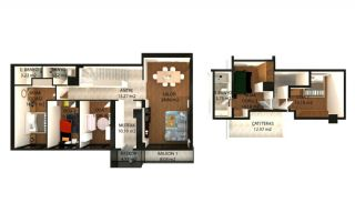 Spacious Flats with Luxurious Complex Features in Yalova, Property Plans-1