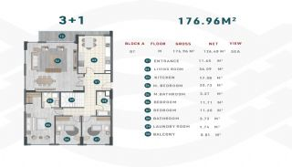 Квартиры с Арендным Потенциалом в Чынарджик, Ялова, Планировка -12
