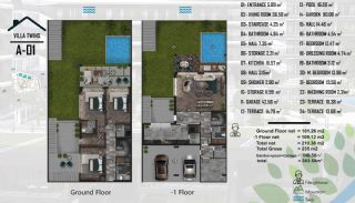 Luxurious Semi-Detached Villas Close to the Sea in Yalova, Property Plans-2