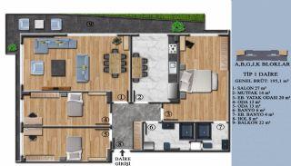 Квартиры с Обзорным Видом на Море в Элитном Проекте в Ялова, Планировка -1