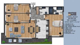 Квартиры с Обзорным Видом на Море в Элитном Проекте в Ялова, Планировка -10