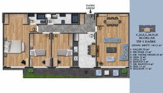 Квартиры с Обзорным Видом на Море в Элитном Проекте в Ялова, Планировка -11