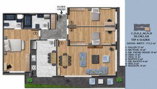 Квартиры с Обзорным Видом на Море в Элитном Проекте в Ялова, Планировка -12