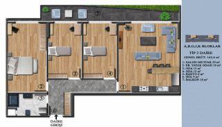 Квартиры с Обзорным Видом на Море в Элитном Проекте в Ялова, Планировка -2