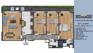 Квартиры с Обзорным Видом на Море в Элитном Проекте в Ялова, Планировка -3