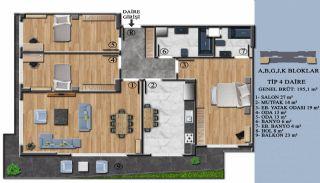 Квартиры с Обзорным Видом на Море в Элитном Проекте в Ялова, Планировка -4