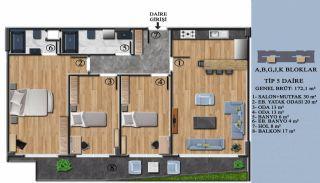 Квартиры с Обзорным Видом на Море в Элитном Проекте в Ялова, Планировка -5