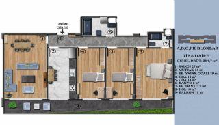 Квартиры с Обзорным Видом на Море в Элитном Проекте в Ялова, Планировка -6