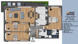 Квартиры с Обзорным Видом на Море в Элитном Проекте в Ялова, Планировка -7