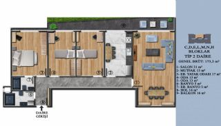 Квартиры с Обзорным Видом на Море в Элитном Проекте в Ялова, Планировка -8
